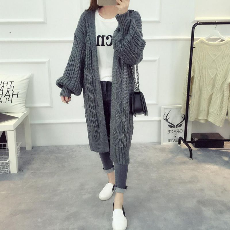 Casual Women Autumn Tops Female Stitch Open Long Sleeve   Trench   Coats Outerwear Solid Loose Coat Casual Overcoat Fashion