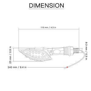Image 2 - 2 pcs אופנוע עמיד למים היגוי אורות הפיכת אותות אור שונה כיוון LED הפעל אות אורות סופר בהיר נצנץ