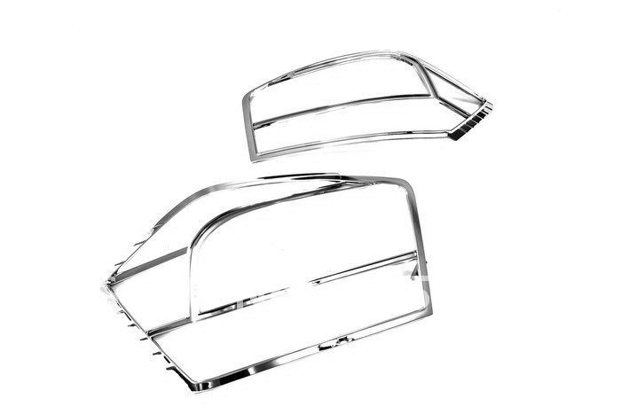 High Quality Chrome Tail Light Cover for Honda City 2009 Up Free Shipping high quality chrome head light cover for volkswagen tiguan free shipping brand new