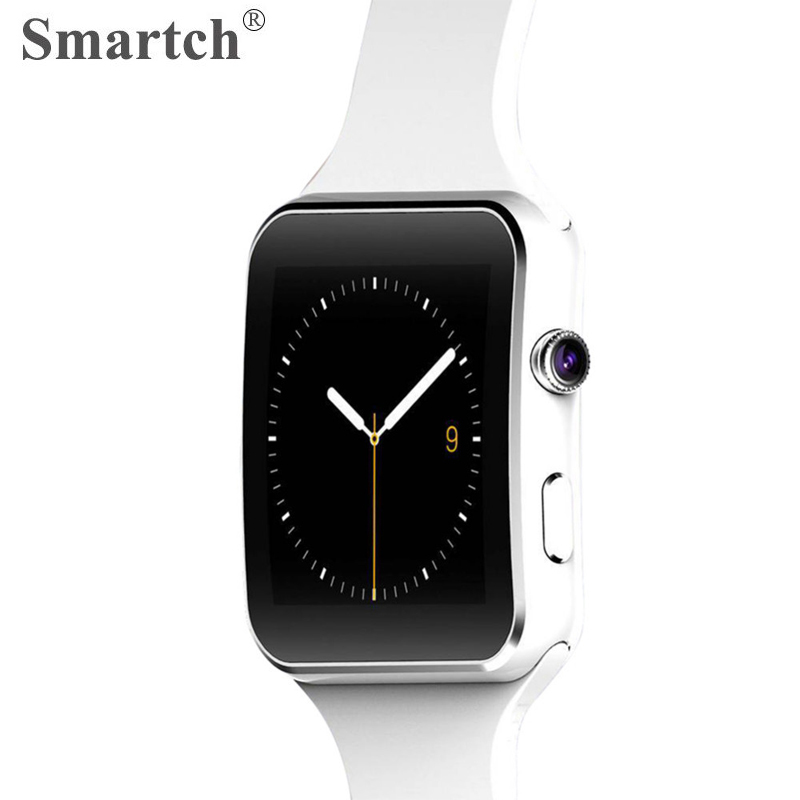 Smartch X6 Bluetooth Smart часы, сим-карты телефон часы, 1.54 дюймов Сенсорный экран, Silica ремешок, случай сплава, Камера, Мода умные часы