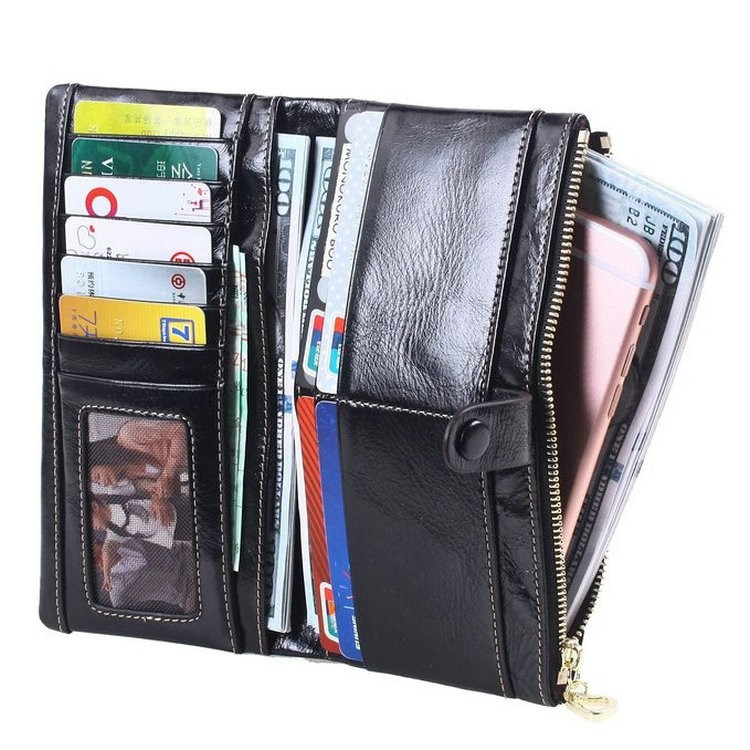 mens leather wallets long