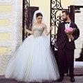 Торговые продаж онлайн люкс свадебные платья жемчужное лучших бальное платье Vestido Novia дешевое платье для невесты 2015 быстрая доставка
