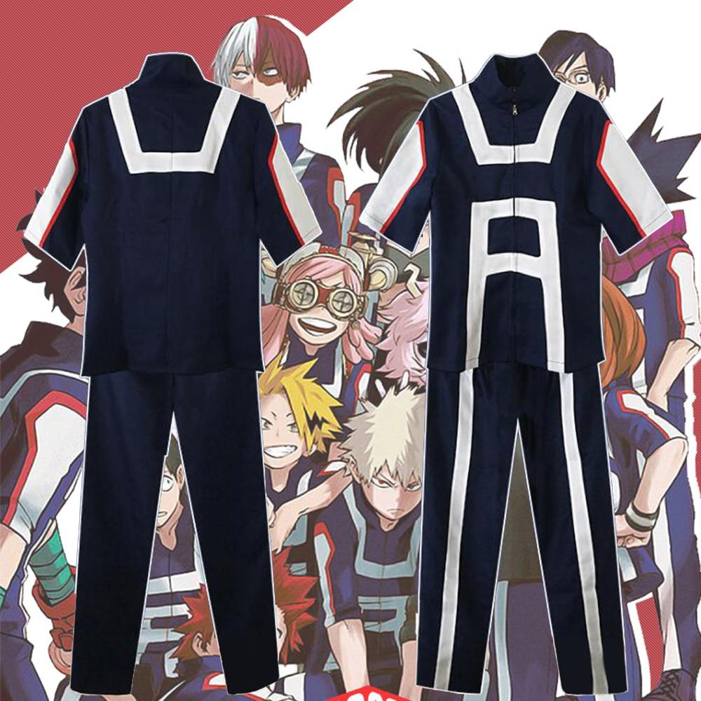 0c53b631898f Anime My Hero Academia Cosplay Uniform Bakugou Katsuki Midoriya Izuku Boku No  Hero Academia U.A. High School Sportswear Costumes