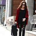 Autumn Fashion Casual Women Basic Coats Cardigan Shawl Batwing Sleeve Lady Knit Sweater Coat Jacket Thicken Chaquetas Mujer 2016