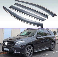 For Mercedes-Benz GLE-Class GLE W166 2016 2017 2018 Plastic Exterior Visor Vent Shades Window Sun Rain Guard Deflector 4pcs