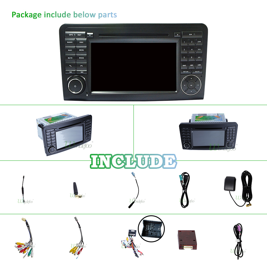 IPS Android 9.0 4G 64G CAR DVD player For Mercedes Benz CLASS ML W164 X164 ML350 ML300 GL500 ML320 ML280 GL350 GL450 GPS radio-in Car Multimedia Player from Automobiles & Motorcycles    3