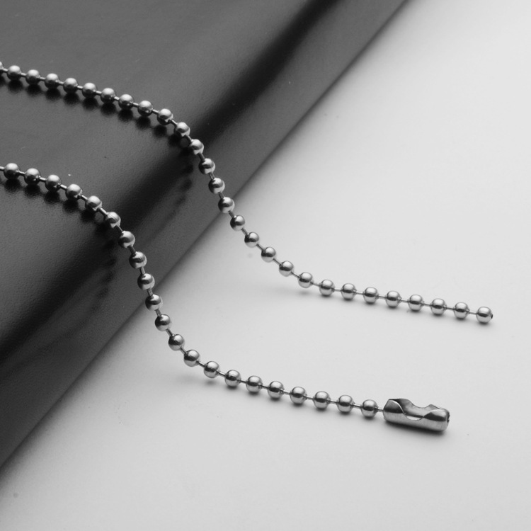2.4mm Silver Tone Stainless Steel Ball Bead Chain Necklace ...