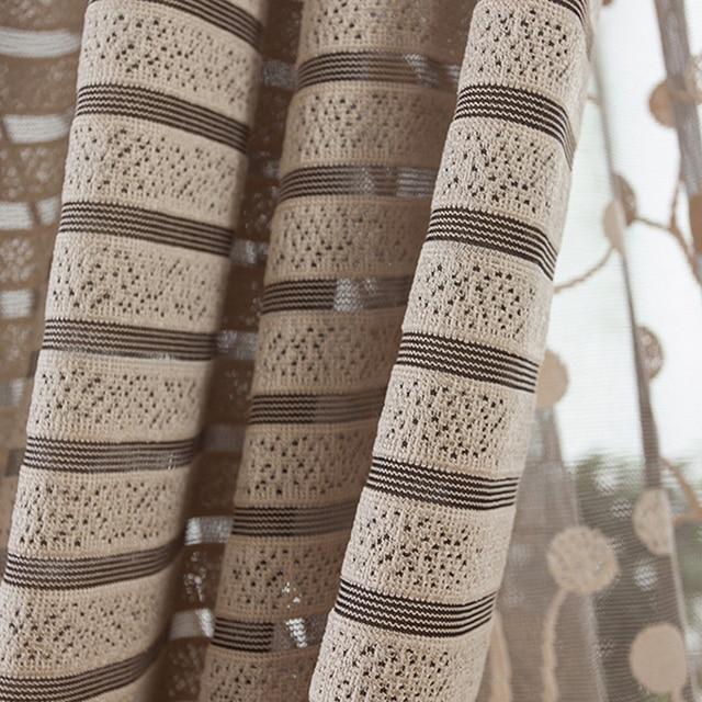 Top Finel Striscia Moderna di Lusso Tende Della Finestra per Soggiorno Cucina Tenda Pura Pannelli Complementi Arredo per le finestre Draperis Anello di Tenuta