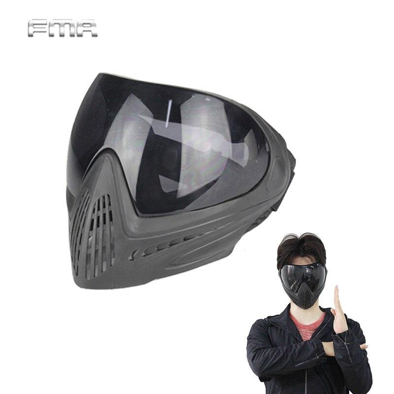 Тактический FMA F1 Goggle Полный маска Airsoft Анти-туман защитные очки Открытый лыжные очки Шестерни безопасности гвардии лица маска