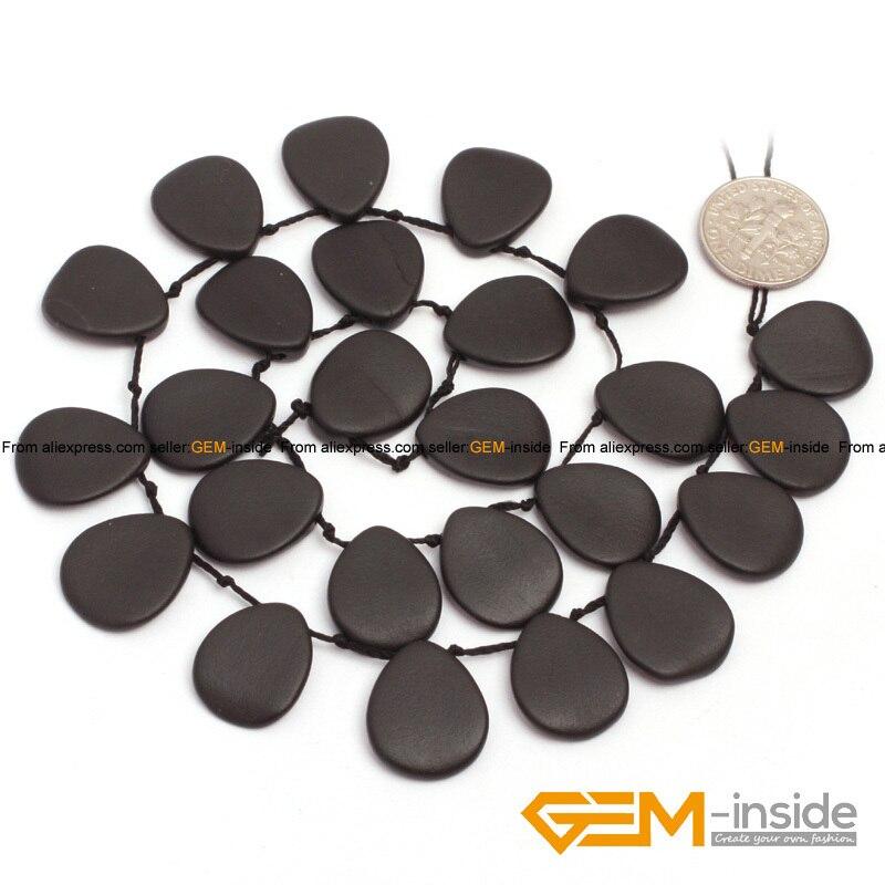 b8a6b4025ae5 13x18mm Contas Plumeria Brasil agat Preto Contas agat Natural Pedra Solta  Beads Para Fazer Jóias Vertente 25 Pcs Atacado!
