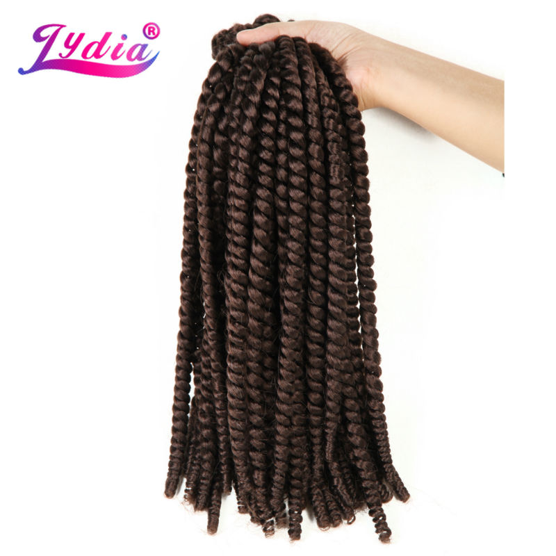 "Lydia For Women Crochet Latch Hook Box Braid Hair 20""3PCS/lot Pure Color #33 Synthetic Senegalese Twists Braiding Hair Extension"