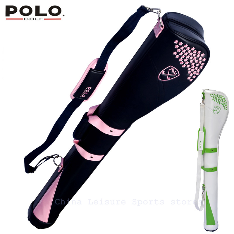 Authentic  Brand POLO high quality Golf gun bags men travelling ladys cover 5-6 clubs small women golf bag bolsa de sport bag polo authentic high quality golf gun bags pu waterproof laoke lun men travelling cover 8 9 clubs 123cm golf bolsa de sport bag