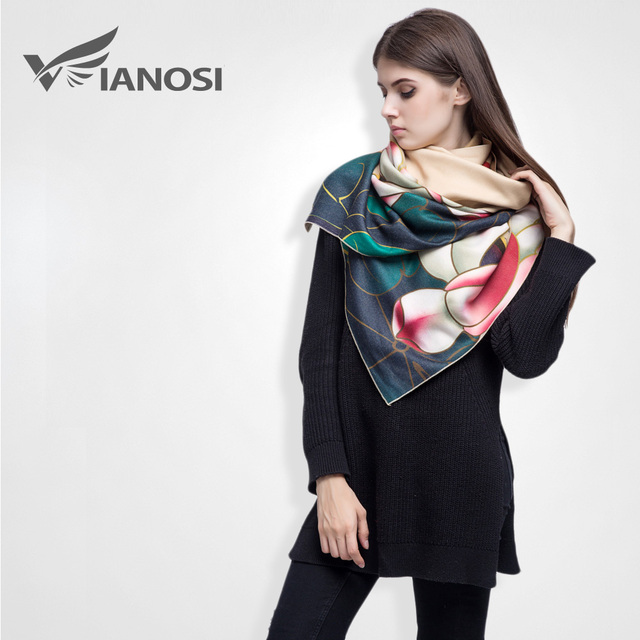 [VIANOSI]  Newest Cashmere Women Scarf Foulard Luxury Digital Printed Brand Shawls VS040