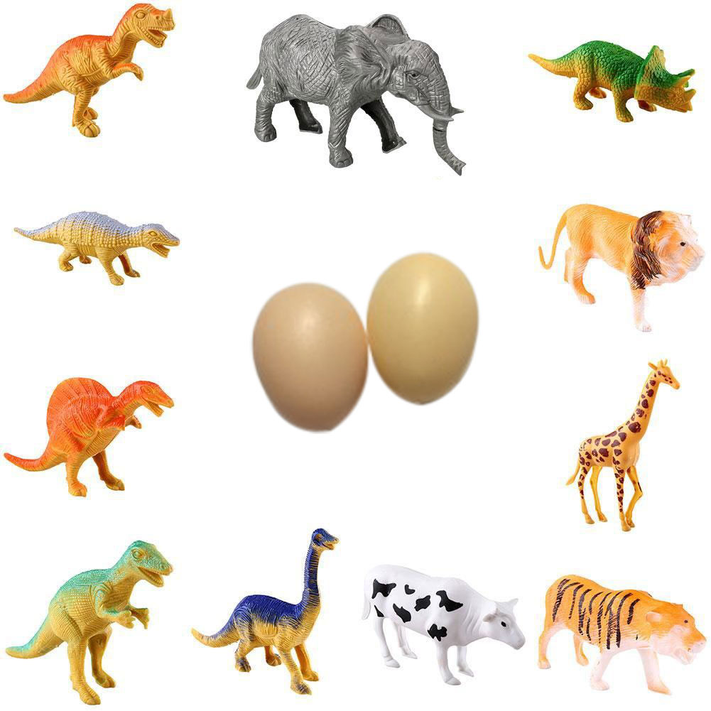ФОТО creative farm 12pcs wild animal plastic figure educational zoo toys gift