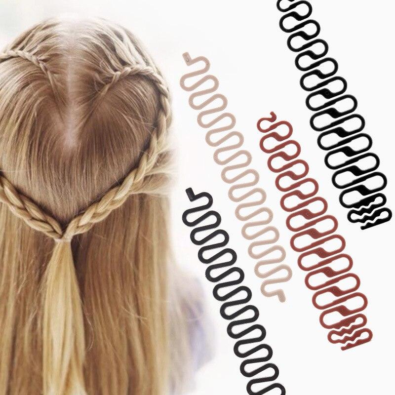 1PC Professional DIY Women Hair Braiding Tool Girls Centipede Braider Ladies Fashion Magic Hair Twist Hair Styling Tool 3 Colors