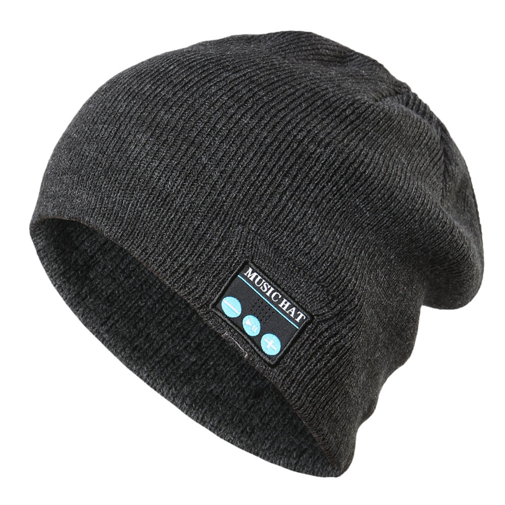 Bluetooth Wireless Warm font b Beanie b font Hat Handsfree Music Cap Headphone Headset Xmas Bonnet