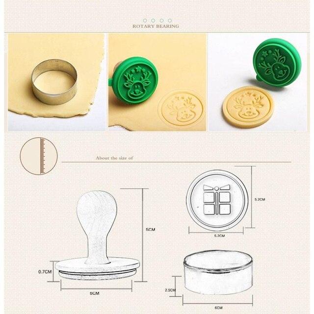 1 Juego de sellos de galletas de bricolaje de silicona para Navidad molde de Fondant herramienta de artesanía de azúcar en relieve para galletas GQ999