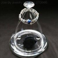 Original Design / lotus in moonlight / 925 sterling silver cloisonne natural 7mm labradorite moonstone double bracelet