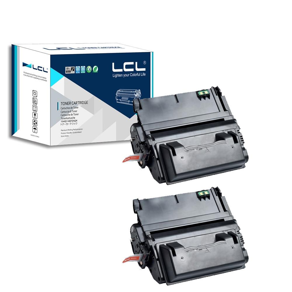 LCL 42A 38A Q5942A Q1338A (2-Pack Schwarz) Tonerpatrone Kompatibel für HP LaserJet...