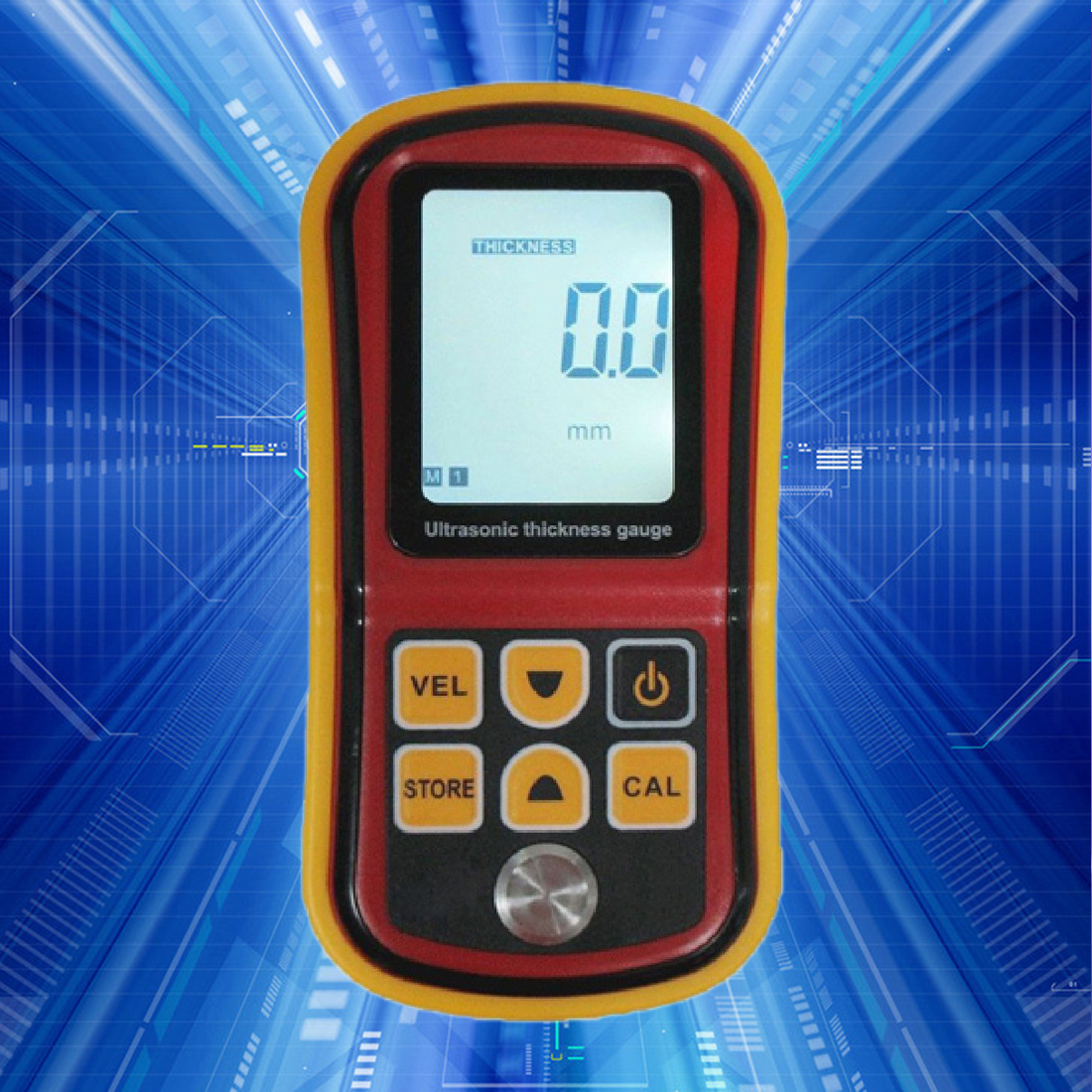 GM100 Ultrasonic Thickness Gauge Tester 1.2~225mm (Steel) Auto power off LCD backlight display Range finder