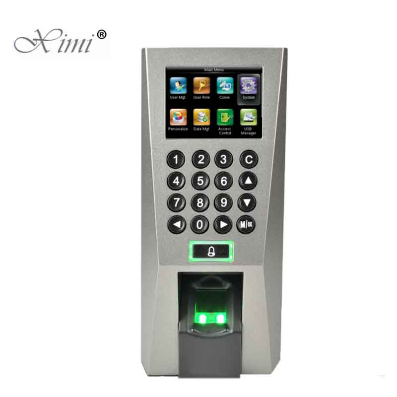 Hot!!!ZK F18 Biometric Fingerprint Access Control Reader Standalone Door Access Control System With TCP/IP USB And Free Software good quality high speed zk f19 biometric fingerprint access control system standalone fingerprint door access controller reader