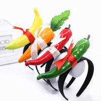 Creative Exaggerated Fruit Headdress Cartoon Fruit and Vegetable Headband Party Christmas