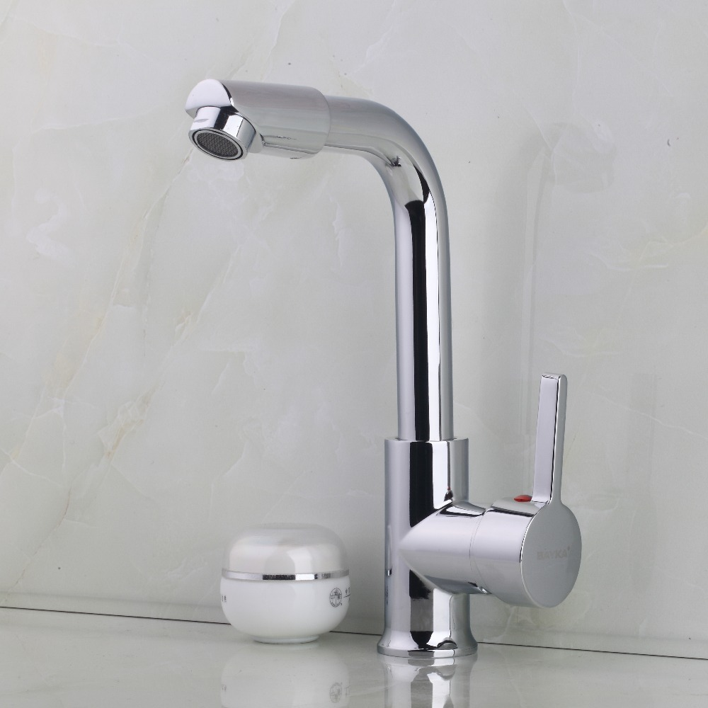 Simple Sumptuous Reasonable Price Kitchen Faucet Chrome Polished Single Handle Single Hole Hot Cold Water Mixer