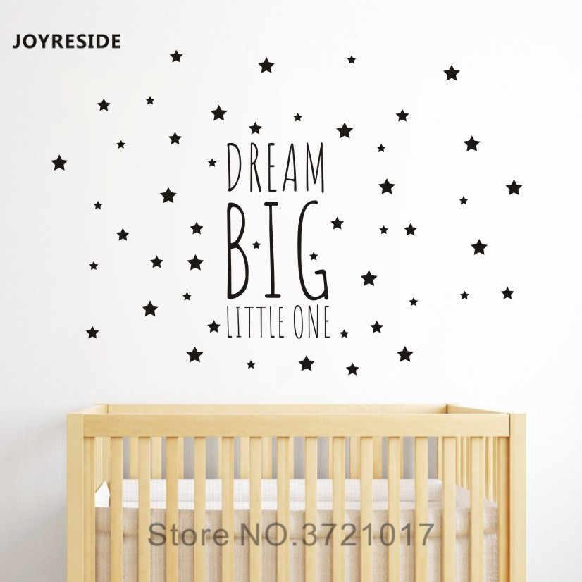 6a6ccd4cc8f4a JOYRESIDE Dream Big Little One Night Sleep Wall Decal Vinyl Sticker ...