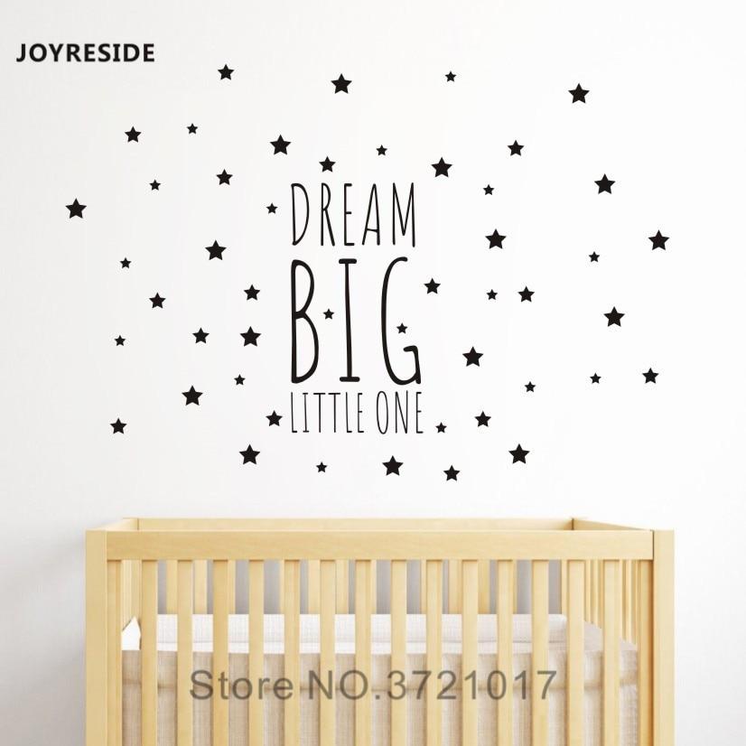 kleine zimmerrenovierung kinderzimmer bunt dekor, joyreside traum großen kleinen eine nacht schlaf wandtattoo vinyl, Innenarchitektur