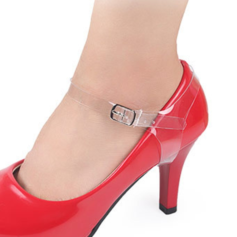 2pcs Shoe Strings Transparent Invisible Women High Heels TPU Band Ankle Straps WearProof Elastic Durable