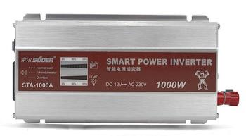HOT Smart LED Display 1000W Modified Sine Wave Power Inverter Converter DC 12V to AC 220V +USB 5V Charger for Phone /Mp3 1