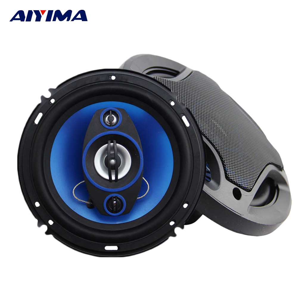Aiyima 2PC 6.5Inch Blue Car Coaxial Horn 4Ohm 180W Classic Speaker Car Audio Loudspeaker For Speaker Modification DIY ghxamp 3 inch 4ohm 30w midrange speaker car speaker mid human voice sound good loudspeaker for lg diy 2pcs