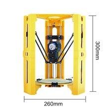 2017 El Más Nuevo Mini DIY Montado Escritorio Impresora 3D 100*100mm Tamaño de Impresión Soporte Off-line 1.75mm 0.4mm Boquilla