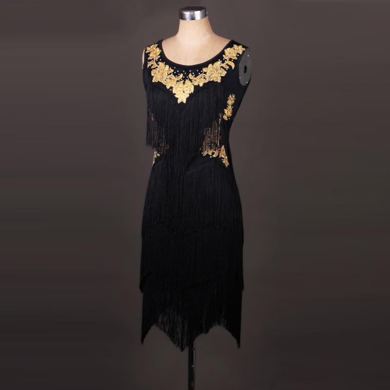 Black latin competition dress