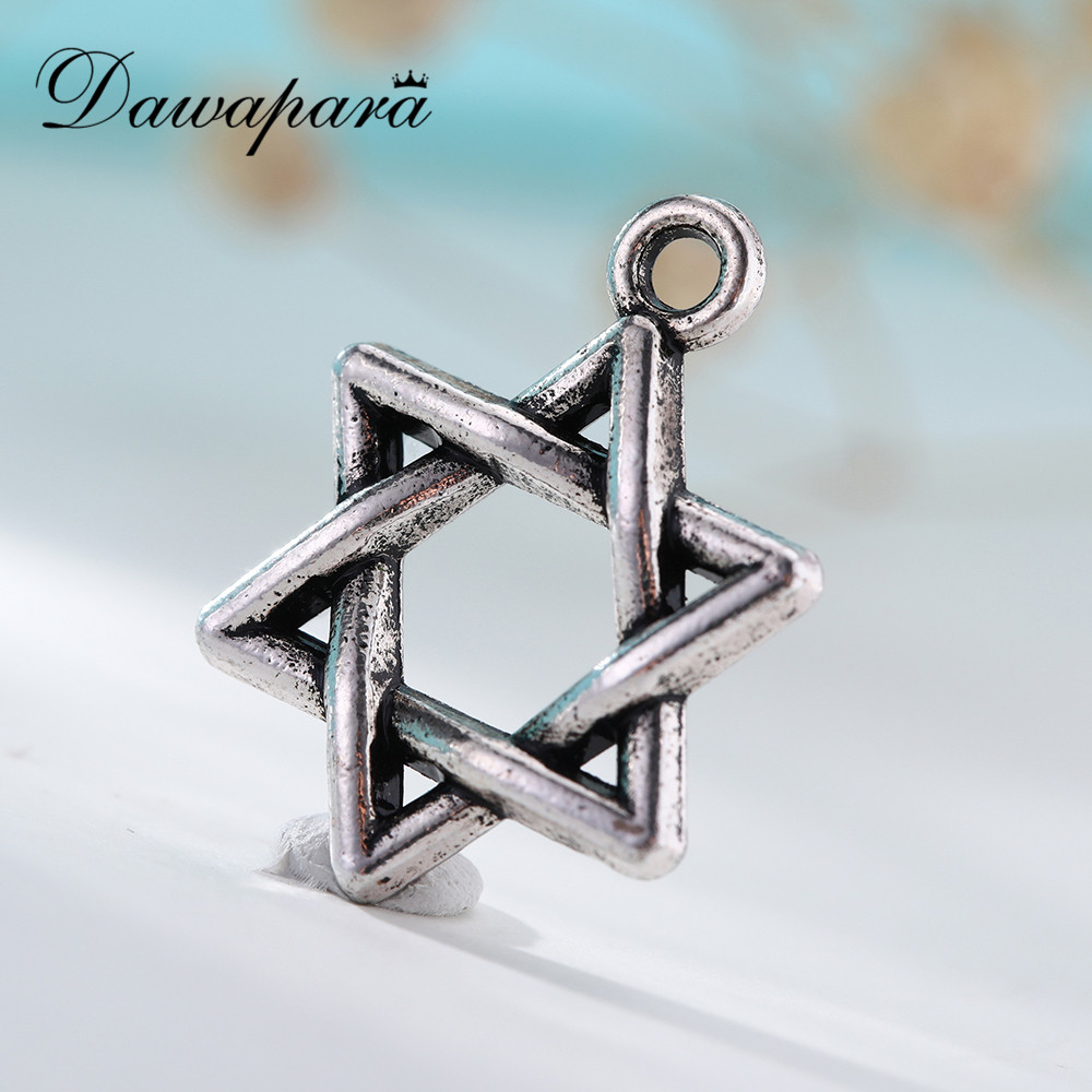 Disciplined Dawapara Wholesale Religious David Star Necklace Pendant Silver Charms For Bracelet Making Jewelry Series H105211 Necklaces & Pendants Jewelry & Accessories