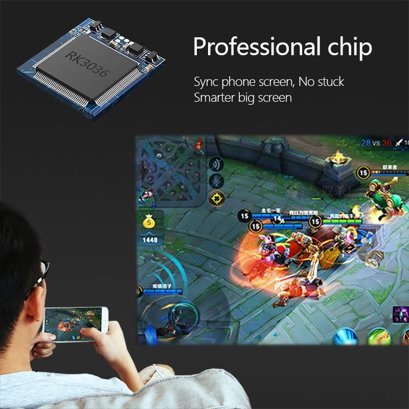 Aun mini projetor dlp x3 com sincronizar a tela do smartphone, espelhamento da tela do telefone de android/ios, portátil para o cinema em casa de 1080p-2