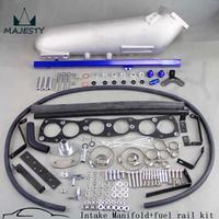 Впускной коллектор для обновления Supra 2JZ JZA80 2JZGTE 2JZ GTE алюминий + топливной рампе синий