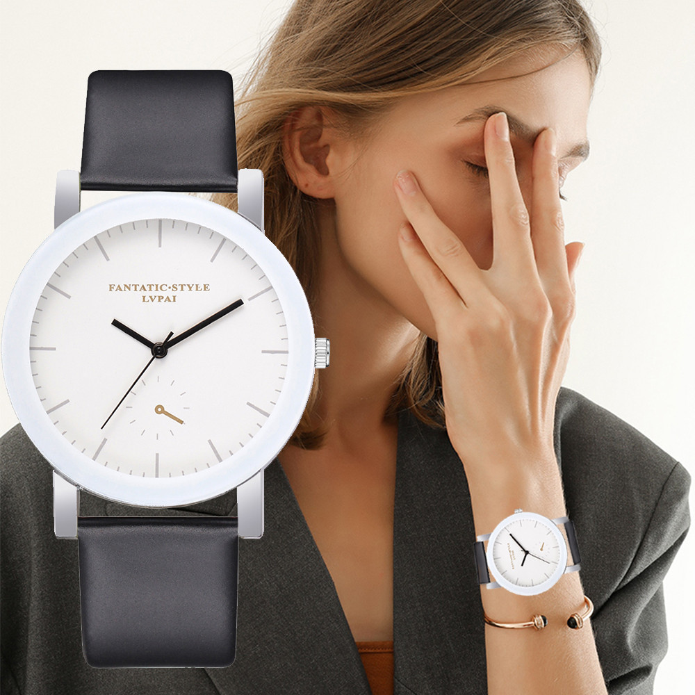 Bracelet Watches Clock Dress Quartz White Lvpai Relojes Women Ladies Brand Creative New