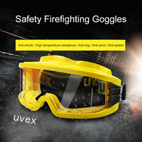 UVEX Safety Goggles Anti fog Anti shock Anti splash Chemical Labor Protective Eyewear Yellow Frame PC Lens Eyeglasses 9301613