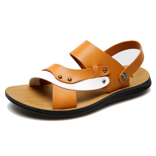 Hommes sandales pantoufles en cuir PU Casual ét... 900s4uWrW