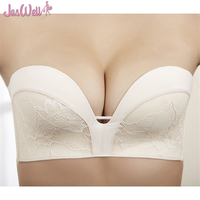 JasWell Invisible Bra Strapless Bralette 1 2 Cup Party Wedding Women S Lace Underwear Sexy Lingerie