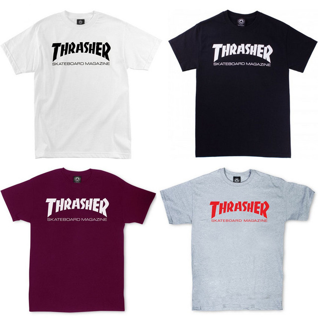2017 Men Hip hop Thrasher T Shirt Fashion New Men skateboards skate T-shirts Short Sleeve T shirt homme Man trasher  T Shirt Top