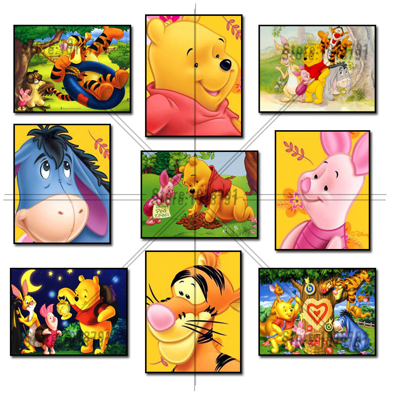 5D Diamond Mosaic Diamond Painting Winnie Pooh and Friends Cross Stitch Kit Diamonds Embroidery Square Drill Home Decoration