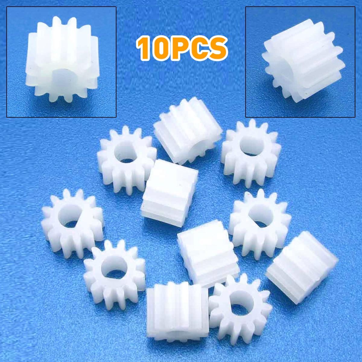 10pcs NEW Plastic gear 3mm 12 teeth D hole gear motor gear Toy model DIY