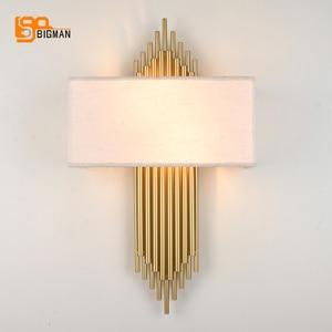 Image 3 - Hoge Kwaliteit Goud Wandlamp Moderne Zwart Wit Wandlampen Voor Home Decor