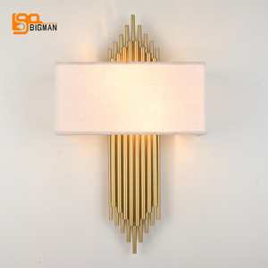 Image 3 - high quality gold wall lamp modern black white wall lights for home decor