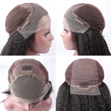 Maxglam Lace Front Human Hair Wigs With Baby Hair For Black Women Brazilian Kinky Straight Remy Hair Lace Wig Free Shipping