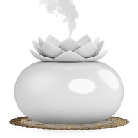 Essential Oil Diffuser Decorative Aromatherapy Diffuser Cute Lotus Ceramic Humidifier Crafts Ornaments USB for Home Bedroom