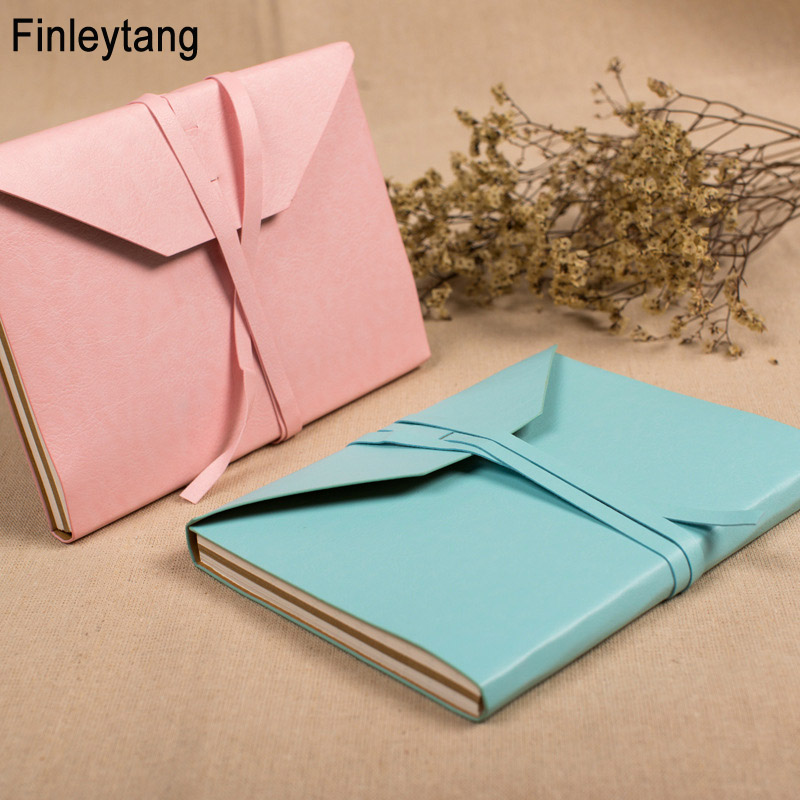 Portable Classic Vintage Leather Bandage Notebook Dot Inside Sketch Book Notepad Diary Office School Stationery Student Gifts A5