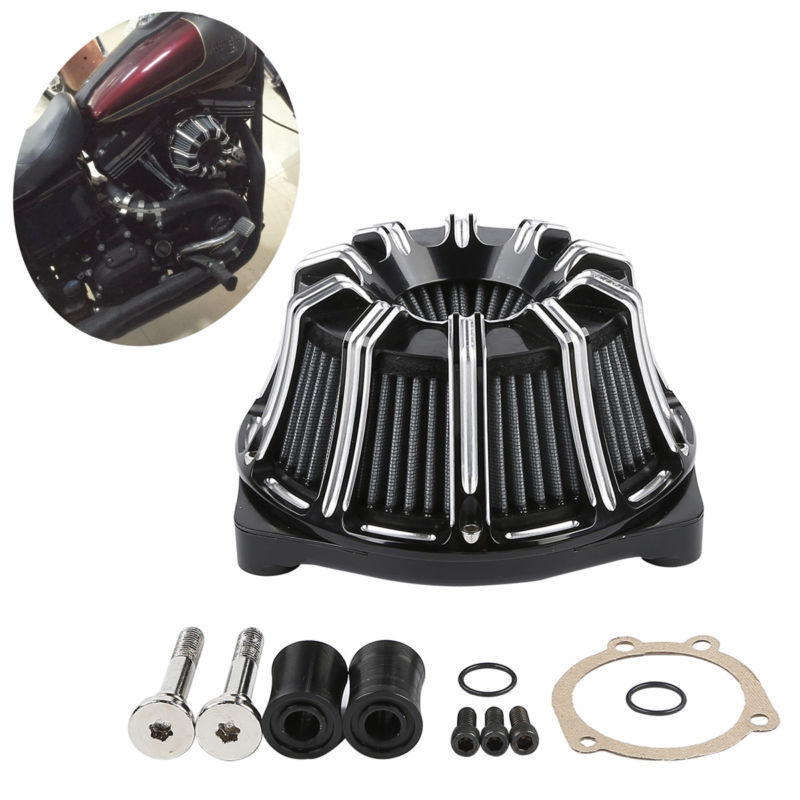 Deep Cut Inverted 10 Gauge Air Filter Cleaner For Harley Touring FLTR FLHT Electra Street Glide Softail Slim Dyna Low Rider FXDF